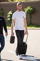 Arrival of the players of the Spanish football team squad for the Qualifying to European Championship in France at the Ciudad del Futbol of Las Rozas, Madrid. October 06, 2015<br /> In the image goolkeeper of Manchester United, David de Gea.