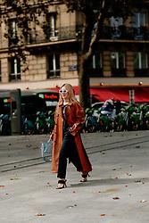 Street style, Tina Leung arriving at Ludovic de Saint Sernin Spring Summer 2022 show, held at Institut du Monde Arabe, Paris, France, on Ocotber 3rd, 2021. Photo by Marie-Paola Bertrand-Hillion/ABACAPRESS.COM