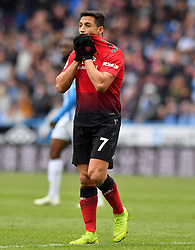 Manchester United's Alexis Sanchez reacts during the Premier League match at the John Smith's Stadium, Huddersfield.