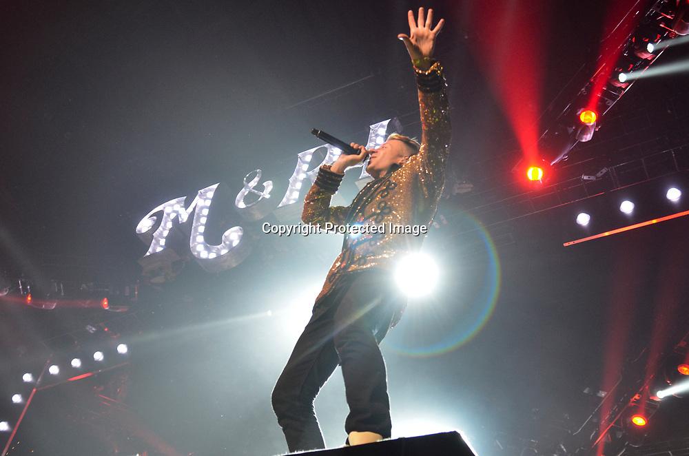 Macklemore performs at the Verizon Center in Washington DC.