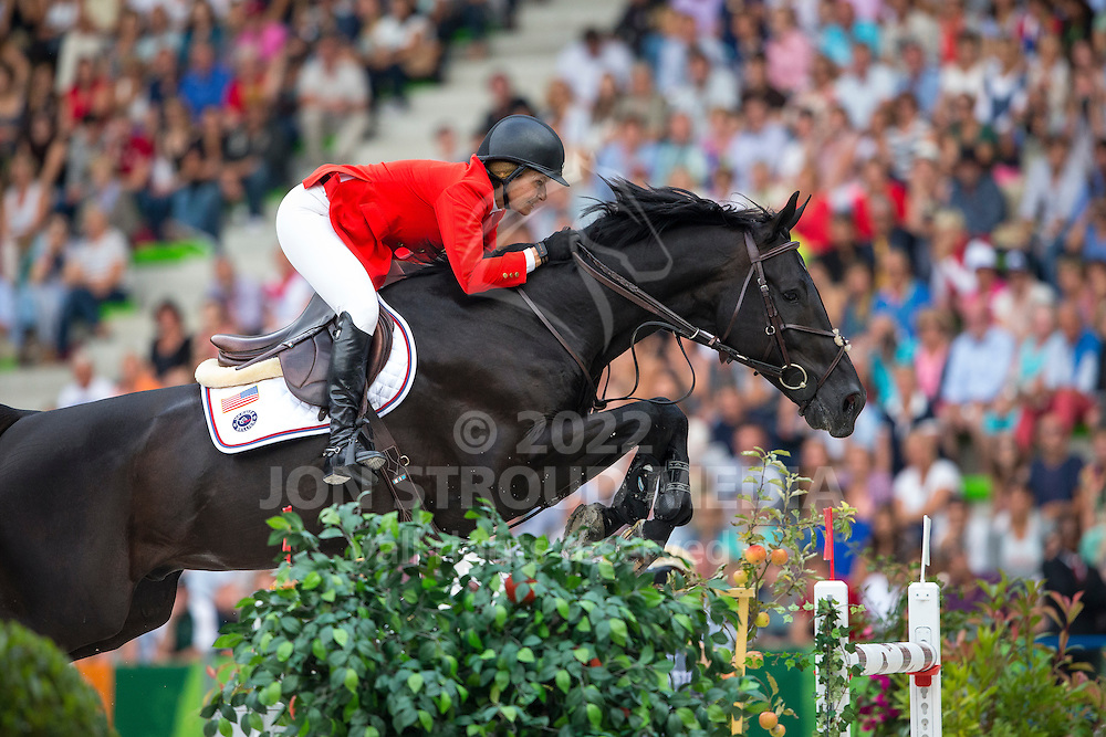 Beezie Madden, (USA), Cortes C - Second Round Team Competition - Alltech FEI World Equestrian Games™ 2014 - Normandy, France.<br /> © Hippo Foto Team - Leanjo De Koster<br /> 25/06/14
