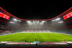 15.02.2021, Allianz Arena, Muenchen, GER, 1. FBL, FC Bayern Muenchen vs DSC Arminia Bielefeld, 21. Runde, im Bild Übersicht der Allianz Arena Feature // during the German Bundesliga 21th round match between FC Bayern Muenchen and DSC Arminia Bielefeld at the Allianz Arena in Muenchen, Germany on 2021/02/15. EXPA Pictures © 2021, PhotoCredit: EXPA/ nordphoto GmbH / Straubmeier