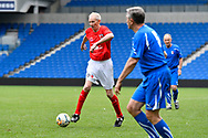 Graham Curry of England over 60's during the world's first Walking Football International match between England and Italy at the American Express Community Stadium, Brighton and Hove, England on 13 May 2018. Picture by Graham Hunt.