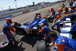 March 11, 2018 - St. Petersburg, Florida, United States of America - March 11, 2018 - St. Petersburg, Florida, USA: Scott Dixon (9) comes down pit road for service during the Firestone Grand Prix of St. Petersburg at Streets of St. Petersburg in St. Petersburg, Florida. (Credit Image: © Justin R. Noe Asp Inc/ASP via ZUMA Wire)