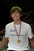 Birmingham, Great Britain,  Men J15,  Gld Medallist, Jack BEAUMONT, Maidenhead RC,  [5min competition, distance covered 1546M] competing at the 2008 British Indoor Rowing Championships, National Indoor Arena. on  Sunday 26.10.2008 . [Photo, Peter Spurrier/Intersport-images] .