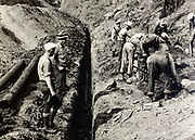 A crew works on the Wilson River Highway around 1939 the old-fashioned way, with picks, shovels and muscle. Many New Deal-era projects used a minimal amount of heavy equipment so that, instead, they could put many more people to work.