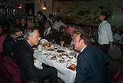 TONY BLAIR; KEVIN SPACEY, Chinese New Year dinner given by Sir David Tang. China Tang. Park Lane. London. 4 February 2013.