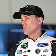 Kevin Harvick, driver of the (4) Jimmy John's Ford,  is seen during practice for the 60th Annual NASCAR Daytona 500 auto race at Daytona International Speedway on Friday, February 16, 2018 in Daytona Beach, Florida.  (Alex Menendez via AP)
