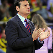 Efes Pilsen's coach Ergin ATAMAN during their Turkish Basketball league Play Off Final third leg match Fenerbahce Ulker between Efes Pilsen at the Abdi Ipekci Arena in Istanbul Turkey on Tuesday 25 May 2010. Photo by TURKPIX