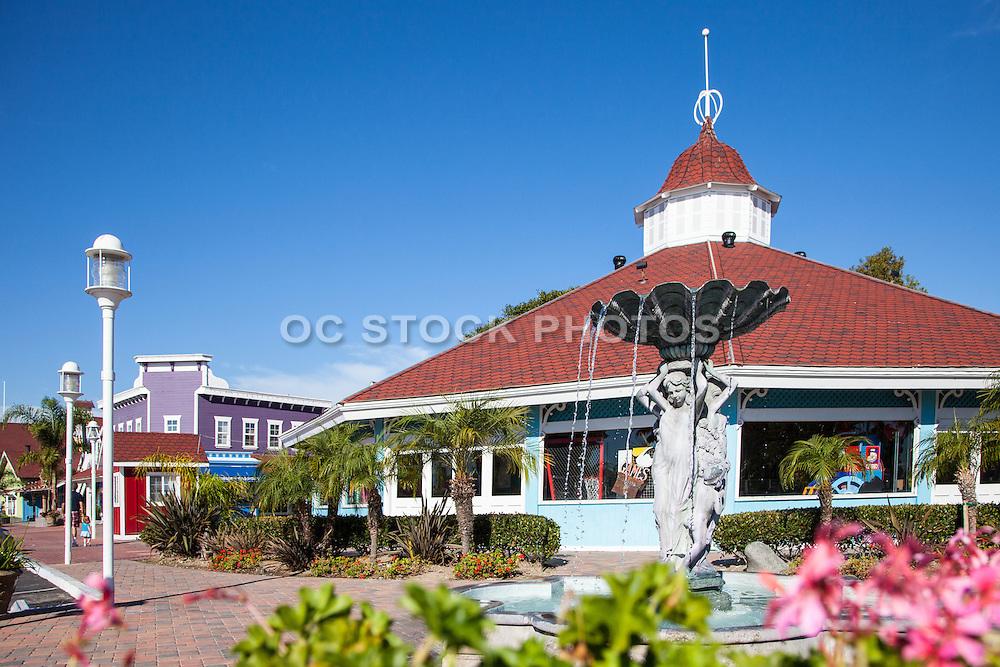 Pelican Pier Pavilion At Shoreline Village In Long Beach California