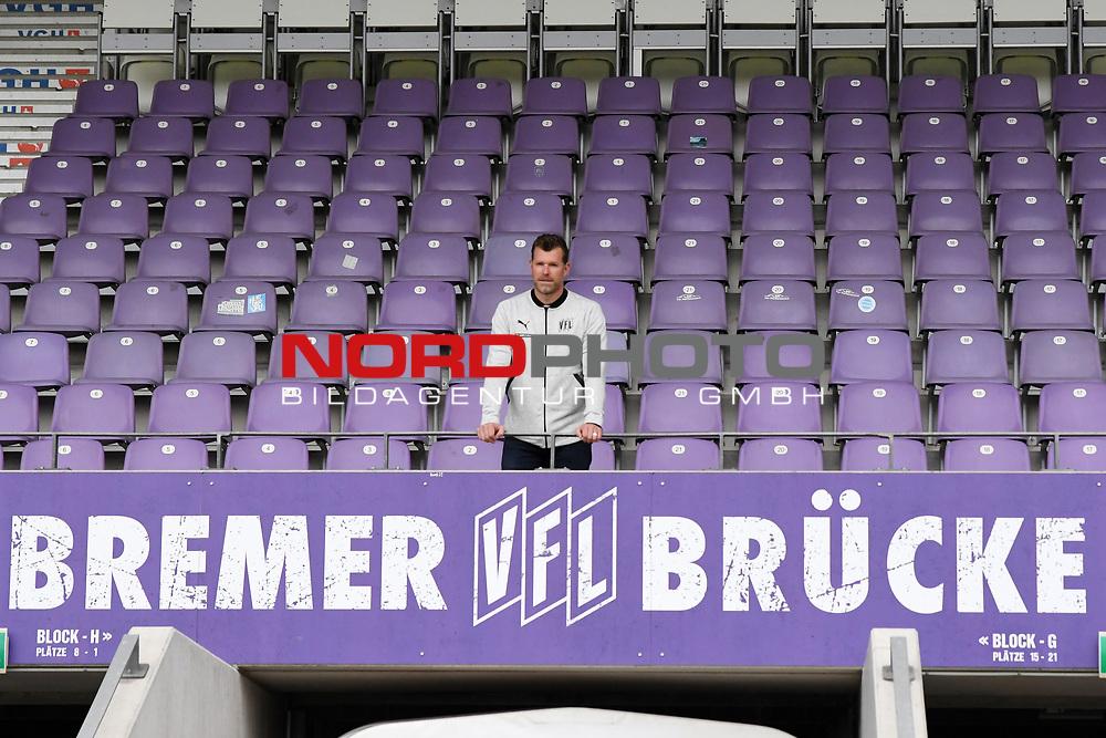 27.07.2020, Stadion an der Bremer Brücke, Osnabrück, GER, 2. FBL Vorstellung Marco Grote<br /> <br /> ,DFL REGULATIONS PROHIBIT ANY USE OF PHOTOGRAPHS AS IMAGE SEQUENCES AND/OR QUASI-VIDEO, <br />   <br /> im Bild<br /> Trainer Marco Grote (VfL Osnabrück)<br /> <br /> <br /> Foto © nordphoto / Paetzel