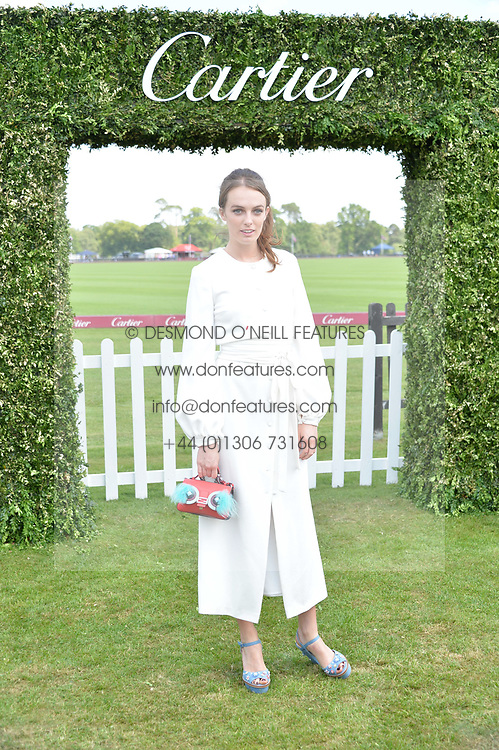 Lady Violet Manners at Cartier Queen's Cup Polo, Guard's Polo Club, Berkshire, England. 18 June 2017.<br /> Photo by Dominic O'Neill/SilverHub 0203 174 1069 sales@silverhubmedia.com