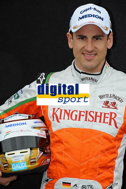 MOTORSPORT - F1 2011 - PRESENTATION DES PILOTES / DRIVERS PRESENTATION - MELBOURNE (AUS) - 25 TO 27/03/2011 - PHOTO : ERIC VARGIOLU / DPPI - <br /> SUTIL ADRIAN (GER) - FORCE INDIA VJM03 - AMBIANCE PORTRAIT