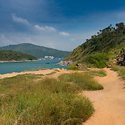 Dirt road trail on Promthep cape, Phuket, Thailand