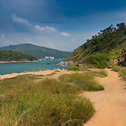 Dirt road trail on Promthep cape, Phuket, Thailand