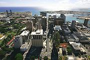 Downtown Honolulu, Oahu, Hawaii, USA