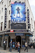 Matilda The Musical on at the Cambridge Theatre in the West End at Seven Dials in Covent Garden. London, UK. This is the home to theatre in the capital.