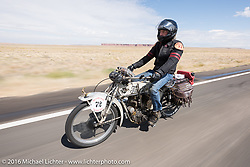 Dan Kraft's 1913 Thor during the Motorcycle Cannonball Race of the Century. Stage-11 ride from Durango, CO to Page, AZ. USA. Wednesday September 21, 2016. Photography ©2016 Michael Lichter.
