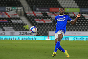 Cardiff City defender Will Vaulks (6) passes the ball during the EFL Sky Bet Championship match between Derby County and Cardiff City at the Pride Park, Derby, England on 28 October 2020.