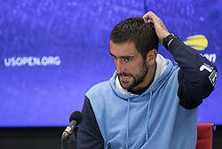September 5, 2018 - Flushing Meadows, New York, U.S - Marin Cilic during a press conference after losing his match against Kei Nishikori on Day 10 of the 2018 US Open at USTA Billie Jean King National Tennis Center on Wednesday September 5, 2018 in the Flushing neighborhood of the Queens borough of New York City. (Credit Image: © Prensa Internacional via ZUMA Wire)
