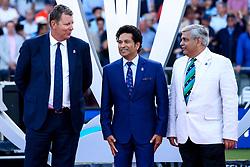 Former Indian Cricketer Sachin Tendulkar makes up the presentation team for the World Cup Final - Mandatory by-line: Robbie Stephenson/JMP - 14/07/2019 - CRICKET - Lords - London, England - England v New Zealand - ICC Cricket World Cup 2019 - Final