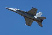 USA, Oregon, Hillsbor, F/A-18F Super Hornet demonstrating at the Oregon International Airshow.
