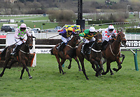 National Hunt Horse Racing - 2020 Cheltenham Festival - Tuesday, Day One (Champion Day)<br /> <br /> Winner, Barry Geraghty on Epatante races for the winning line, in the 15.30 Unibet Champion hurdle challenge trophy ( Class 1), at Cheltenham Racecourse.<br /> <br /> COLORSPORT/ANDREW COWIE