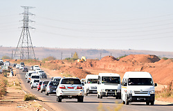 South Africa - Pretoria - 03 June 2020 - Taxis flowing in Solomon Mahlangu Road.<br /> <br /> Picture: Thobile Mathonsi/African News Agency(ANA)