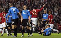 Photo: Paul Thomas.<br /> Manchester United v FC Copenhagen. UEFA Champions League, Group F. 17/10/2006.<br /> <br /> John O'Shea (22) of Man Utd celebrates his goal.