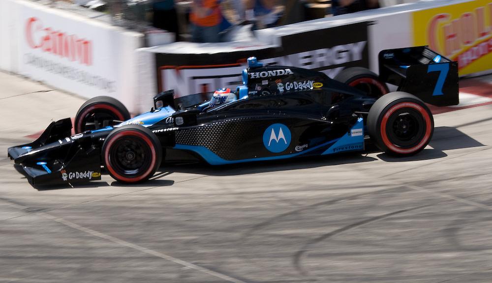 #7 Motorola Car. Andretti Green Racing. Long Beach Grand Prix 04/25/09. Fourth Place