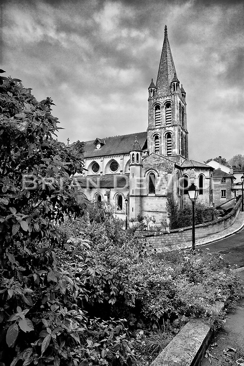12th century Notre-Dame Church in Bougival, France     Aspect Ratio 1w x 1.5h