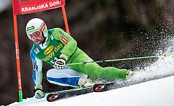 04.03.2017, Podkoren, Kranjska Gora, SLO, FIS Weltcup Ski Alpin, Kranjska Gora, Riesenslalom, Herren, 1. Lauf, im Bild Vorläufer Bostian Kline (SLO) // forerunner Bostian Kline of Slovenia in action during his 1st run of men's Giant Slalom of FIS ski alpine world cup at the Podkoren in Kranjska Gora, Slovenia on 2017/03/04. EXPA Pictures © 2017, PhotoCredit: EXPA/ Johann Groder