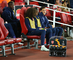 September 20, 2018 - London, England, United Kingdom - Arsenal's Mesut Ozil on the bench.during UAFA Europa League Group E between Arsenal and FC Vorskla Poltava at Emirates stadium , London, England on 20 Sept 2018. (Credit Image: © Action Foto Sport/NurPhoto/ZUMA Press)