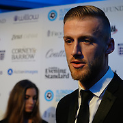 Daniel Bentley Arrives at London Football Awards 2018 at Battersea Evolution on 1st March 2018,  London, UK.