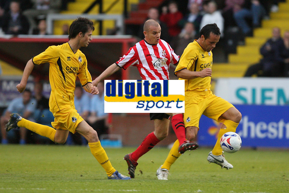 Photo: Pete Lorence.<br />Lincoln City v Bristol Rovers. Coca Cola League 2. Play off, Semi Final 2nd Leg. 17/05/2007.<br />Jamie Forrester on the attack.