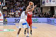 DESCRIZIONE : Campionato 2014/15 Dinamo Banco di Sardegna Sassari - Openjobmetis Varese<br /> GIOCATORE : Eric Maynor<br /> CATEGORIA : Tiro Tre Punti Three Points<br /> SQUADRA : Openjobmetis Varese<br /> EVENTO : LegaBasket Serie A Beko 2014/2015<br /> GARA : Dinamo Banco di Sardegna Sassari - Openjobmetis Varese<br /> DATA : 19/04/2015<br /> SPORT : Pallacanestro <br /> AUTORE : Agenzia Ciamillo-Castoria/L.Canu<br /> Predefinita :
