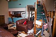Hurricane Michael damaged home  in Mexico Beach, Flroida