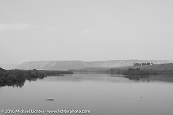 The Snake River as we crossed it during stage 13 (257 miles) of the Motorcycle Cannonball Cross-Country Endurance Run, which on this day ran from Elko, NV to Meridian, Idaho, USA. Thursday, September 18, 2014.  Photography ©2014 Michael Lichter.