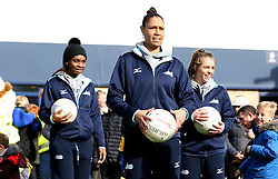 The Seven Stars Netball Team put on a workshop of Netball coaching - Mandatory by-line: Robbie Stephenson/JMP - 05/03/2017 - RUGBY - Sixways Stadium - Worcester, England - Worcester Warriors v Bristol Rugby - Aviva Premiership