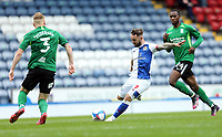 Blackburn Rovers' Adam Armstrong has his effort charged down by Birmingham City's Kristian Pedersen<br /> <br /> Photographer Rich Linley/CameraSport<br /> <br /> The EFL Sky Bet Championship - Saturday 8th May 2021 - Blackburn Rovers v Birmingham City - Ewood Park - Blackburn<br /> <br /> World Copyright © 2021 CameraSport. All rights reserved. 43 Linden Ave. Countesthorpe. Leicester. England. LE8 5PG - Tel: +44 (0) 116 277 4147 - admin@camerasport.com - www.camerasport.com