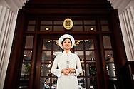 Young Vietnamese staff at the Sofitel Metropole 5 stars hotel, Hanoi, Vietnam, Southeast Asia