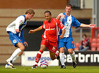 Photo: Ed Godden/Sportsbeat Images.<br /> Leyton Orient v Hartlepool United. Coca Cola League 1. 22/09/2007. Orient's Tamika Mkandawire (centre), makes his way through the Hartlepool defence.
