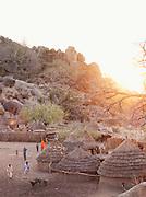 Nuba tribe village of Nyaro in the Kordofan region, Sudan