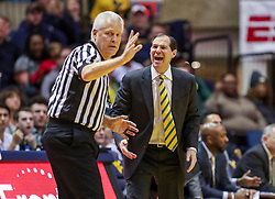 Jan 21, 2019; Morgantown, WV, USA; Baylor Bears head coach Scott Drew reacts to a call during the second half against the West Virginia Mountaineers at WVU Coliseum. Mandatory Credit: Ben Queen-USA TODAY Sports