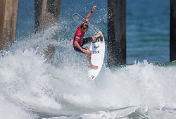 July 31, 2018 - Huntington Beach, California, United States - Huntington Beach, CA - Tuesday July 31, 2018: Joan Duru in action during a World Surf League (WSL) Qualifying Series (QS) Men's round of 96 heat at the 2018 Vans U.S. Open of Surfing on South side of the Huntington Beach pier. (Credit Image: © Michael Janosz/ISIPhotos via ZUMA Wire)