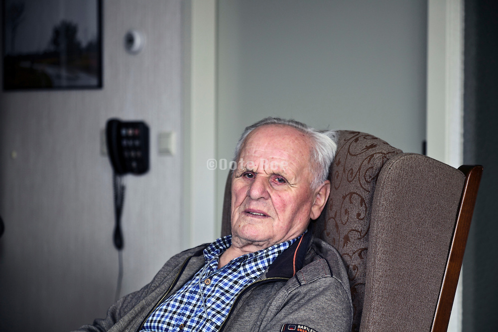 elderly person looking