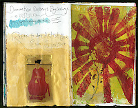My empathic nodules are fried. Art Journal by Elena Ray. Handmade artist's journals filled with collage and crazy wisdom.