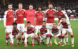 December 7, 2017 - London, England, United Kingdom - Arsenal Team shoot.during UEFA Europa League Group H match between Arsenal and BATE Borisov at The Emirates , London 7 Dec  2017  (Credit Image: © Kieran Galvin/NurPhoto via ZUMA Press)
