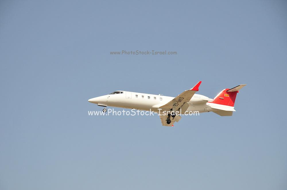 Israel, Ben-Gurion international Airport Learjet 60, Z3-MKD, Republic of Macedonia landing