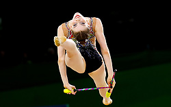 England's Hannah Martin competes in the Team Final and Individual Qualification Sub Division 2 at the Coomera Indoor Sports Centre during day seven of the 2018 Commonwealth Games in the Gold Coast, Australia.